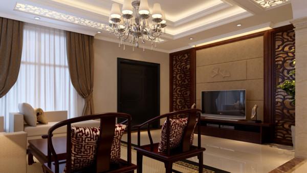 此户型为中式与欧式混搭,家具偏向中式感觉,主材以及一些配饰添加了欧式的元素,整个空间显得灵动而饱满,中式的古色古香配合欧式的华美高雅,为业主很好的融合了一个有新意的家!