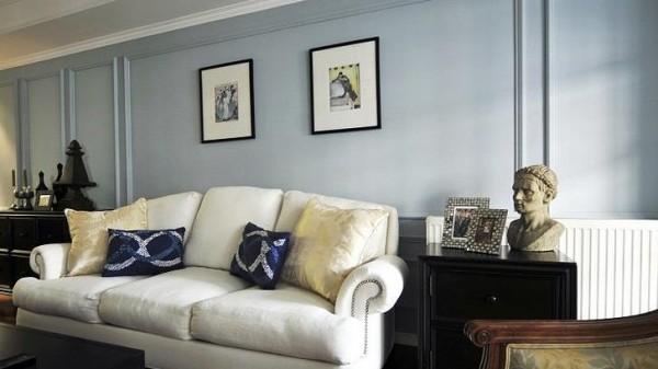 客厅背景墙及沙发细节