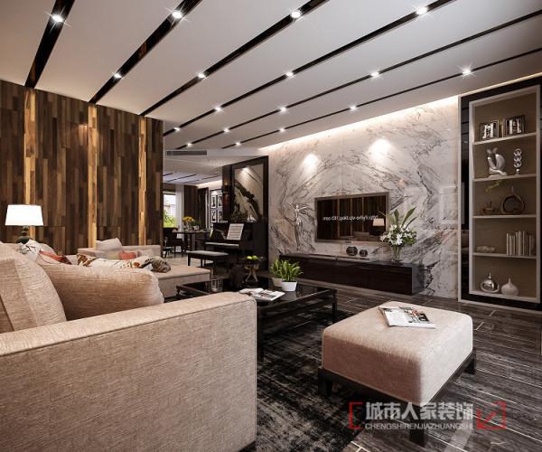 由于门厅走廊的空间划分存在浪费的现象,故大胆采用不对称,不规则的顶地设计,旨在弱化门厅走廊的视觉面积,将有限的空间视觉转移到客厅和餐厅的面积中。
