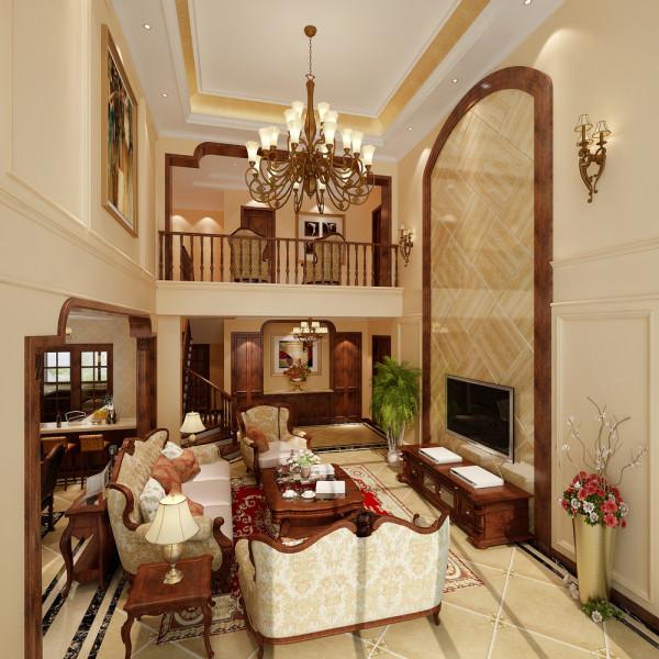 富力湾别墅装修——美式风格设计——上海聚通装璜