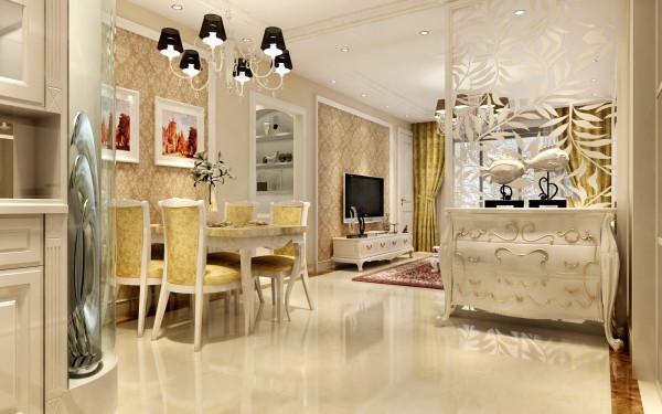 设计理念:门厅的设计不要求复杂繁琐,简单而又凸显风格,白色的欧式门厅柜隔断,隔开了客厅和门厅的空间,起到了空间的划分作用。