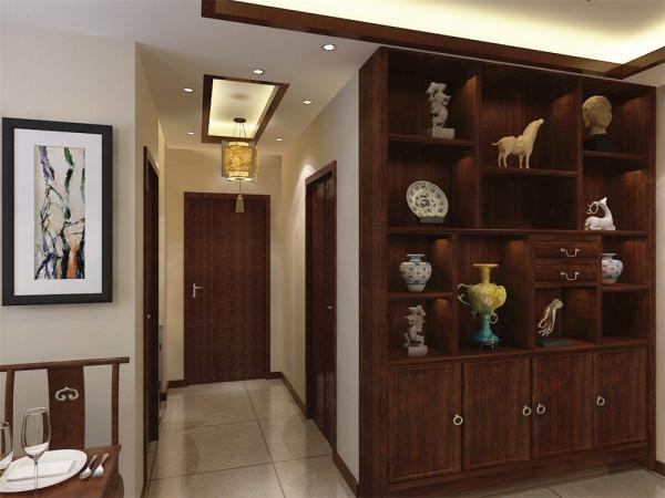 本方案以新中式风格为主,中国传统的室内设计融合了庄重与优雅双重与图片