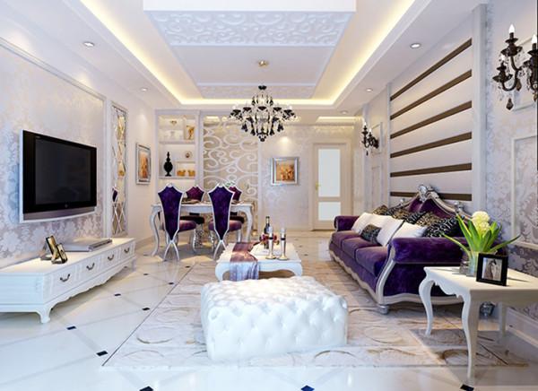 在这个空间中强调了气韵与质感及浪漫的柔性美,融合新古典与现代、新颖、高科技的技术手法,彰显其气势与唯美的氛围,并在繁复中体会浪漫与幽雅。