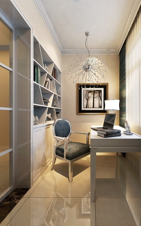 在原来的空间上做了一个书柜,小孩需要独立的学习空间