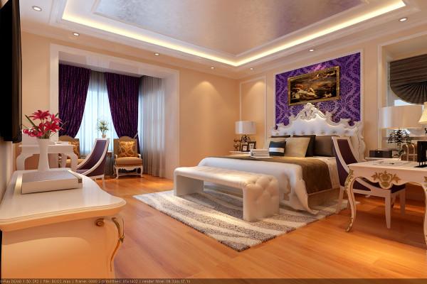 以奢华、大气夺人眼球! 通过色彩合理的搭配,呈现在我们眼前画面彰显欧式皇族的风采。在设计的时候,更是有理有据可依, 让卧室披上华丽外衣的同时,极具文化内涵。