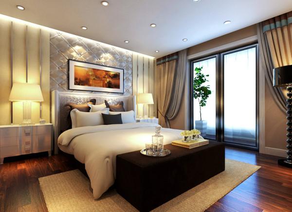 设计理念:宽敞的主卧室规划出非常舒适惬意的睡眠天堂,自然光缓缓进入室内,营造出舒适放松的空间感,缔造出一个令人心弛神往的写意空间。