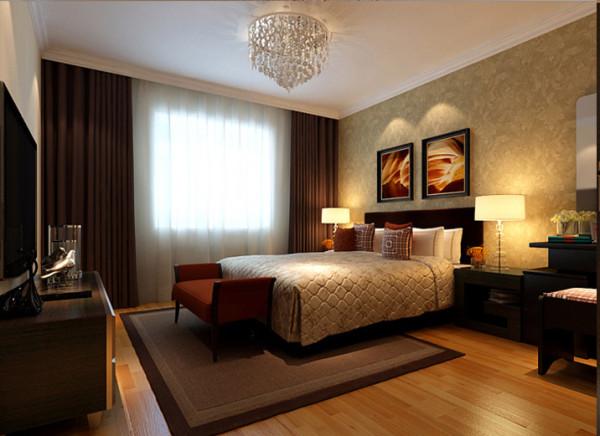 设计理念:宽敞的主卧室规划出非常舒适惬意的睡眠天堂,自然光源缓缓进入室内,营造出舒适放松的空间感。