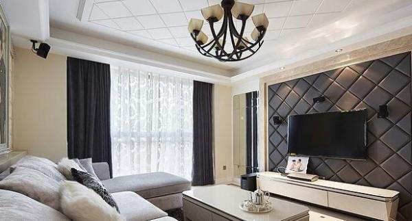 客厅吊灯细节