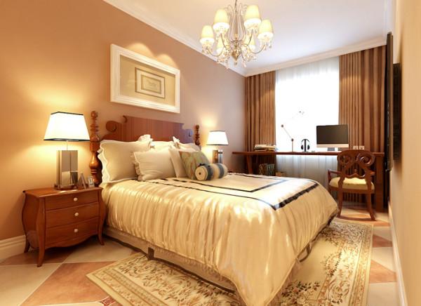 设计理念:卧室中以浓郁的颜色氛围来营造主题性,中性色的主要基调营造安逸的睡眠空间,提供舒适无压的梦想环境。