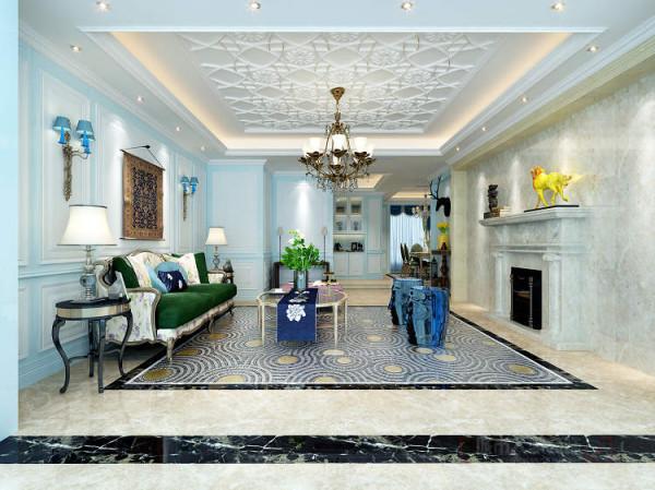 客厅,餐厅及其他空间在设计上除用传统的表现手法外,在客厅地面处理上在硬朗上追求自然轻松的视角体验。
