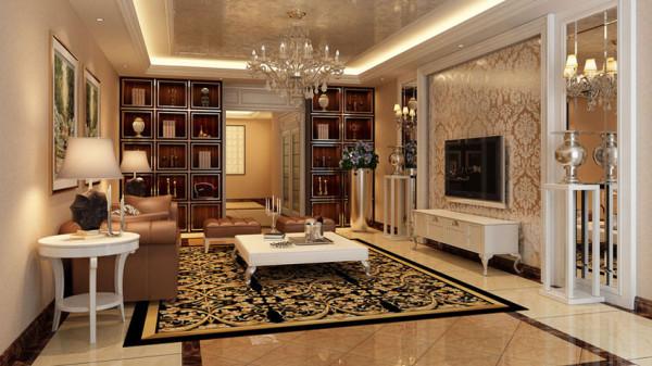 奢华欧式风格特点:豪华、富丽。由于欧式风格大量采用白、乳白与各类金黄、银白有机结合,加上欧式所特有的柱体结构,形成了特有的豪华、富丽风格。