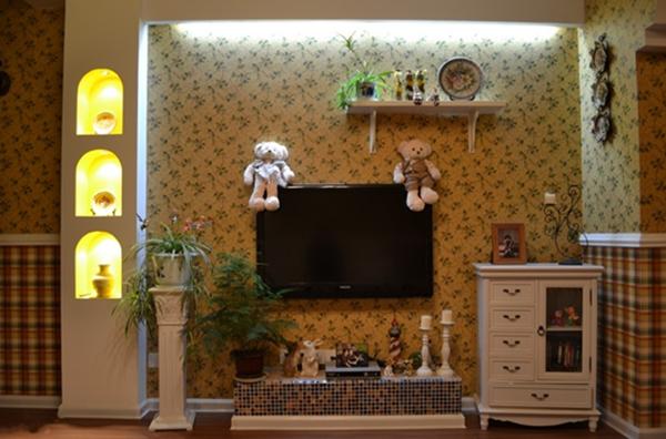 有造型,有壁纸,有地台,有装饰