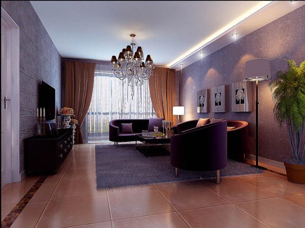 设计理念:客厅作为休闲区,摒弃了过于复杂的肌理和装饰,使怀古的浪漫情怀与现代人对生活的需求相结合。