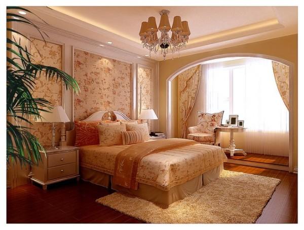 卧室-吊灯的展现是欧式风格中最明显的特征