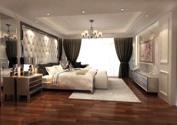 次卧的奢华虽然不能与主卧相比,但是用材的考究以及颜色的搭配,都充斥着人们的视觉神经,豪华贵气的元素造就出让人感叹的空间