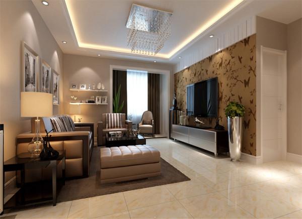 设计理念:简约大方的整体布局,回字吊灯简洁与地面家具协调统一。