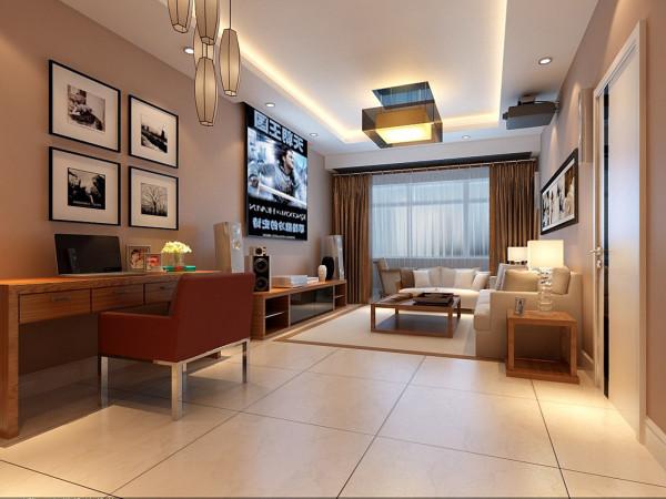 设计理念:现代风格家具需要完美的软装配合,以及浅黄色墙漆配色更能体现出家庭的温暖。