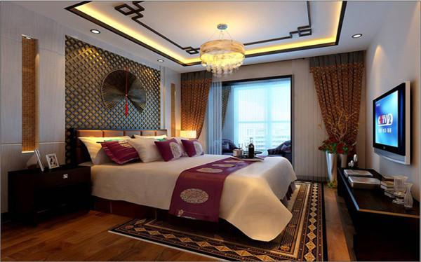 设计理念:居室在色彩方面秉承了传统古典风格的典雅和华贵,在配饰的选择方面更为简洁,少了许多奢华的装饰,更加流畅地表达出传统文化中的精髓。