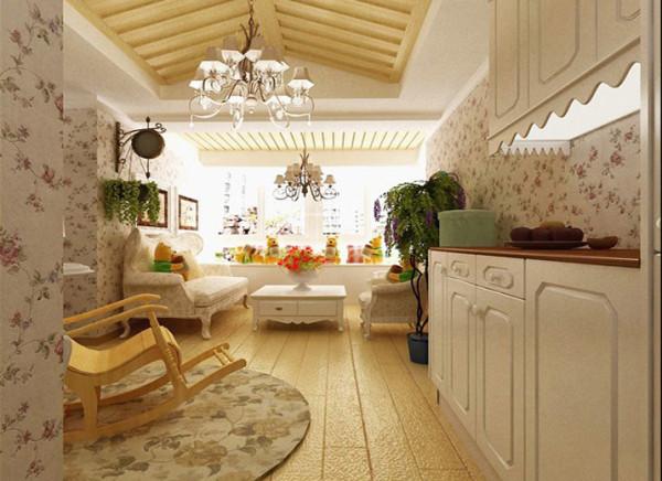 沙发背景采用硅藻泥做装饰,整体映现出一种艺术境界。