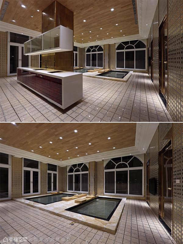 冷热双池的标准配置,置于住家的顶楼空间,随时享有极致的纾压机能。