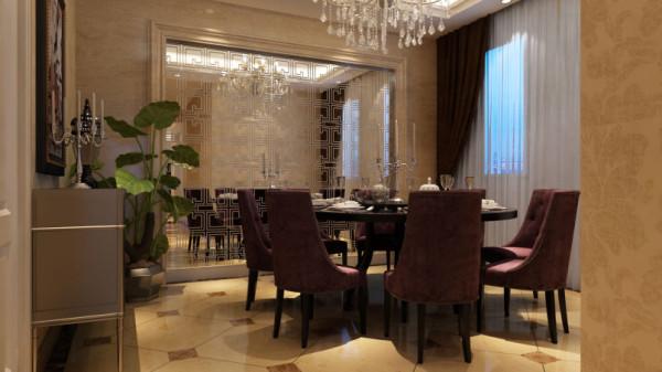 舒适的家具,质地柔和的织物,赏心悦目的壁画,工艺品,绿植等的合理选择和布置,配合灯光的有效设计,共同构成整个住宅陈设配饰的基本元素,营造出了欧式典雅、舒适的氛围。