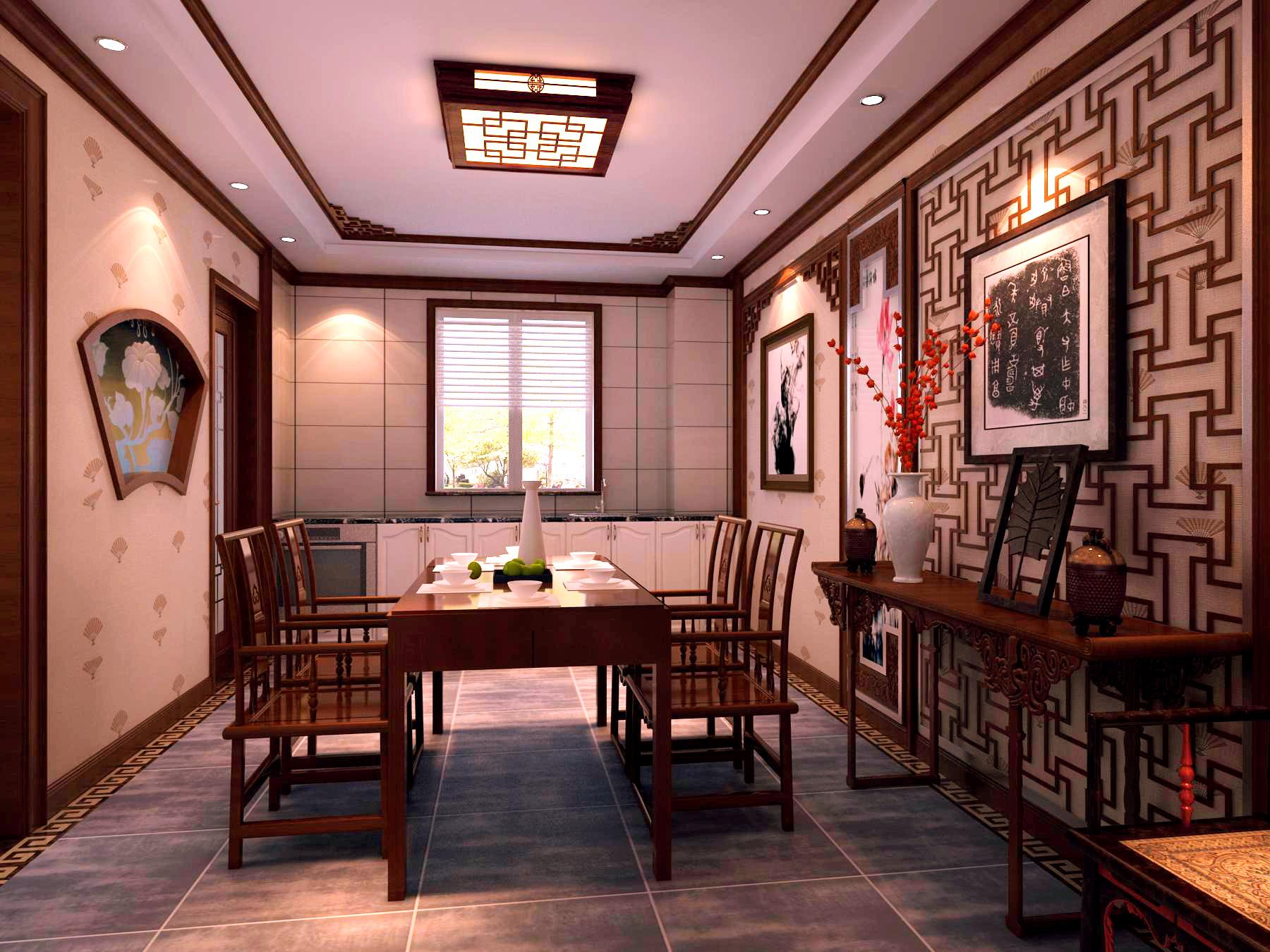 中式 四居 餐厅图片来自北京今朝装饰刘在V7西园中式文化生活的分享