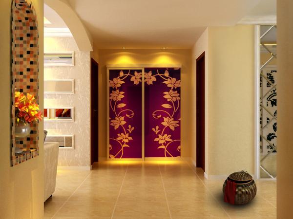 拱形造型配以马赛克装饰,电视背景墙及灯池边吊造型简约而不简单。