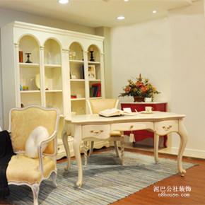 欧式 田园 小清新 二居 书房 书房图片来自泥巴公社设计师李轶在自然田园 碧桂园威尼斯城的分享
