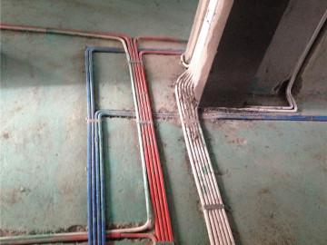 红橡华园水电改造工地