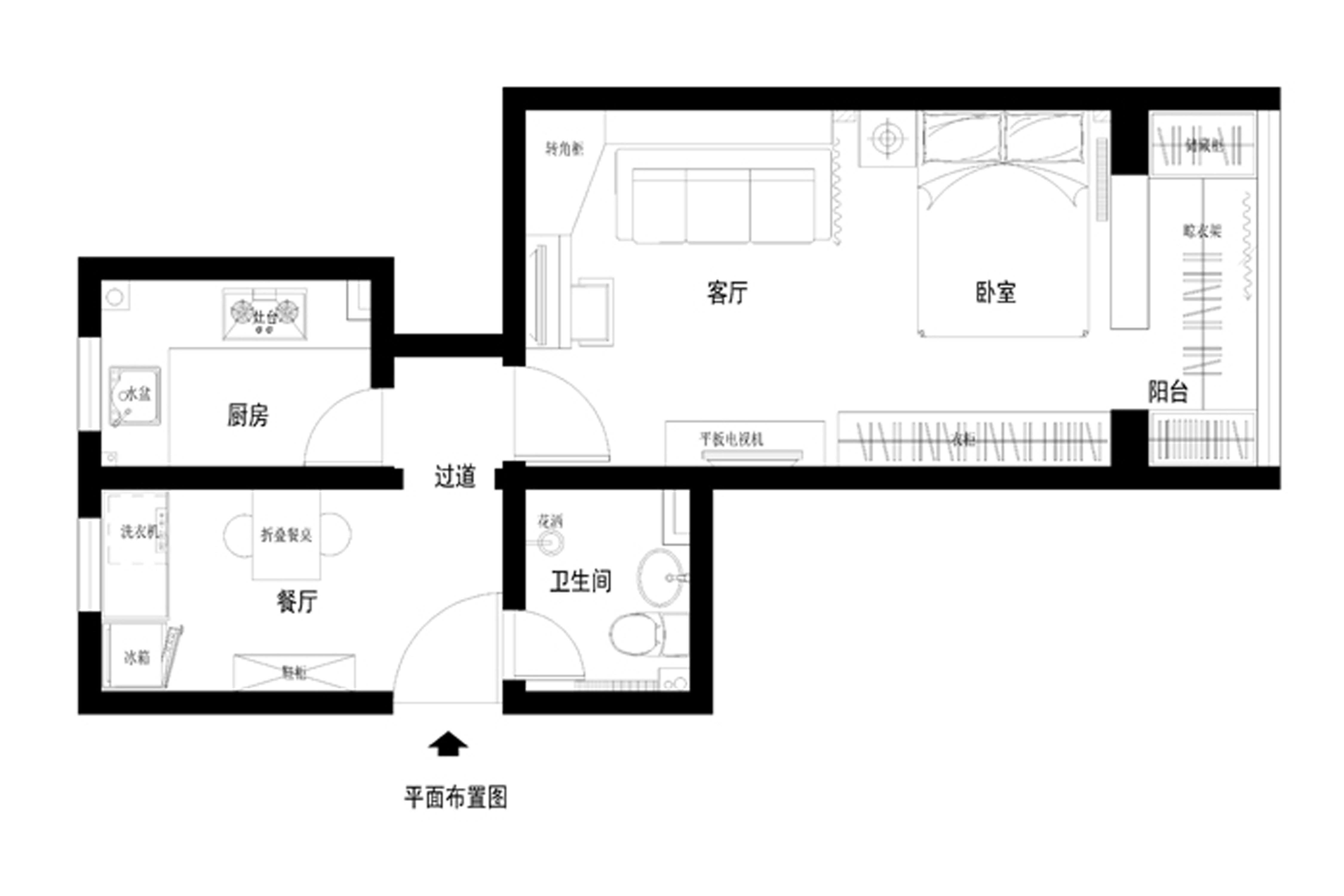 田园 二居 白领 80后 小资 户型图图片来自装饰装修-18818806853在天健.上城韩式田园风格的分享