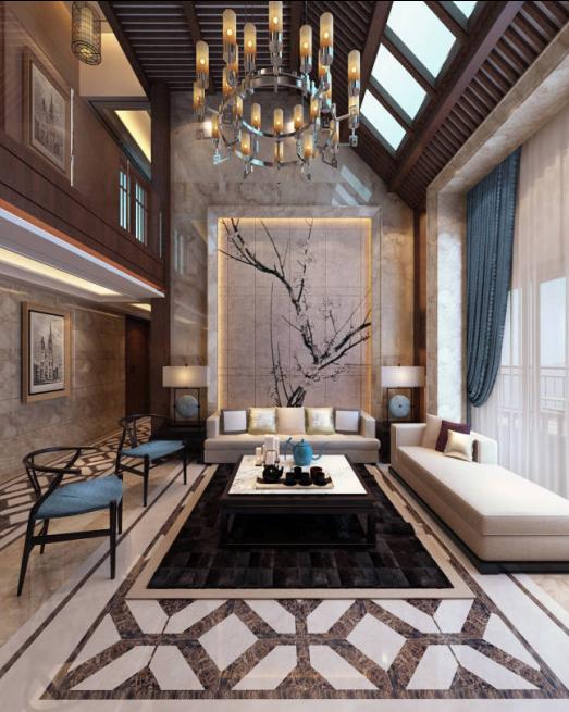 设计保留中式风格的传统文化特色,将传统中式风格精神进行提炼和升华,打造一个既典雅庄重,又不像中式风格那么生硬古板,适合现代人生活居住的品质空间。