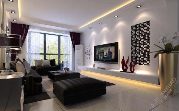 在功能方面,客厅是主人品味与性格的象征,也是交友娱乐的场合,电视背景墙采用石膏板、马赛克、弧形吊顶相结合的几何造型,既个性又华丽。 沙发背景墙卡其色系的软包,更是羡煞旁人。