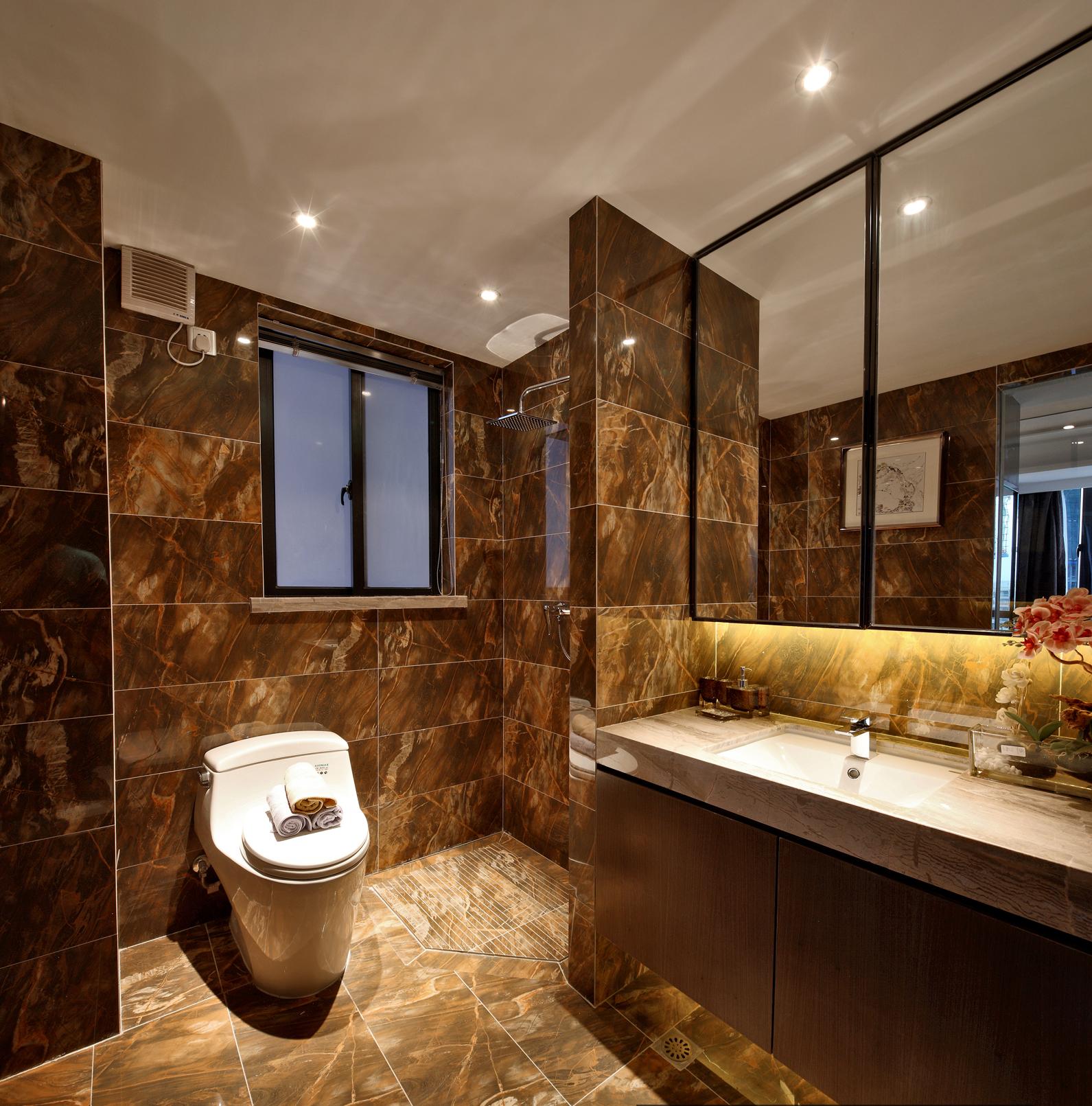 混搭风格 现代简约 新房装修 旧房改造 卫生间图片来自周海真在115.