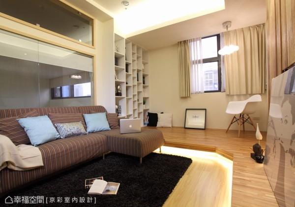 规划本案的重点,着重空间的开放性,并考虑到屋主为双人使用,划分空间为两房,并将客、书房通体连结,使行走动线流畅。