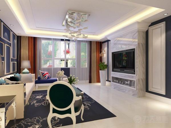 该户型中信公园城一期洋房标准层F户型3室2厅2卫1厨 120.00㎡,规矩方正,适于设计。设计风格是英伦式。