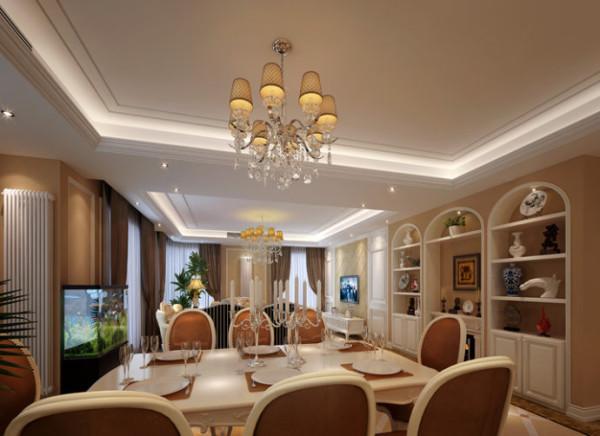简欧餐厅对于人们来说既是餐饮的场所,更是社交的空间。因此淡雅的色彩、柔和的光线、浪漫的烛台、华贵的线脚、精致的餐具加上安宁的氛围、高雅的举止都是欧式餐厅的特点。