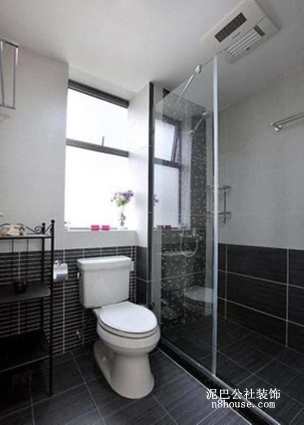 黑白分明的背景墙,玻璃推门,也是现代城市风格的一大特色