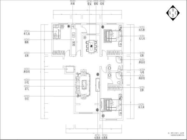 室内的储藏收纳空间都设计为内嵌的形式使空间显得整体简洁,硬装与家具中的精致细节与整体的简洁大气形成对比,含蓄又不简单。