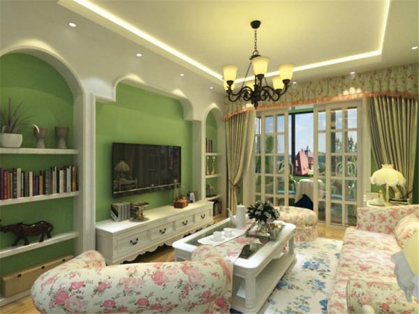 起居室一般较客厅空间低矮平和,选材上也多取舒适、柔性、温馨的材质组合,可以有效地建立起一种温情暖意的家庭氛围。