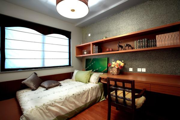 东南亚风格鲁能七号院装修效果卧室