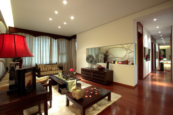 东南亚风格鲁能七号院装修效果客厅