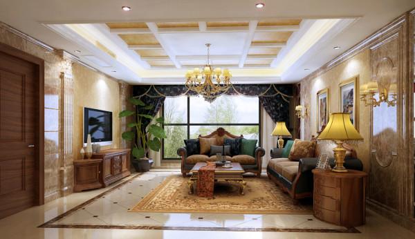 本案设计师采用暖色调为主,古典优雅的家具和软装、灯具的完美结合,营造出一个典雅、大气、华丽又不张扬的居室空间。