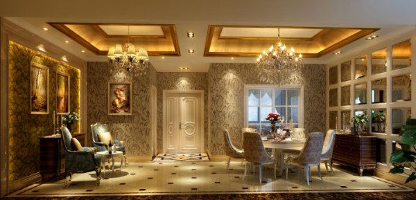 业主:贾女士;施工工期:150天;欧式的居室有的不只是豪华大气,更多的是意境和浪漫。通过完美的曲线,精益求精的细节处理,带给家人不尽的舒适触感,实际上和谐是欧式风格的最高境界。