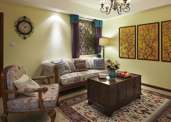 客厅色彩搭配浑然天成