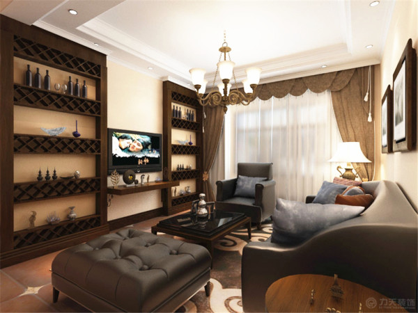 本案我设计的是美式风格,美式风格能凸显出宽大,舒适的特点