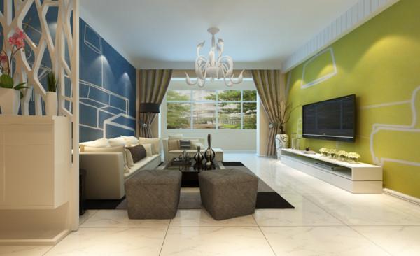 客厅设计: 简约风格的客厅设计有着沉静素雅的美,温馨舒适的中性色带来随性的自由,电视背景墙随性自然,和整个客厅的氛围保持和谐一致,有着朦胧又清新的意境。