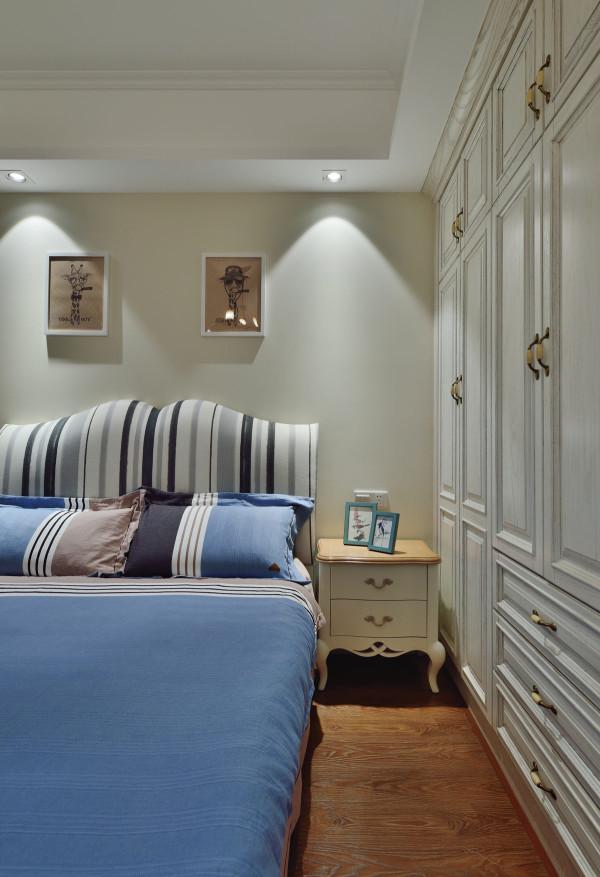 美式法式北欧装修设计卧室三居混搭图片