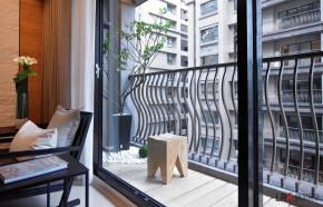 现代 简约 二居 三口之家 温馨 阳台图片来自朗润装饰工程有限公司在保利花园二期1、8号楼B1-现代的分享