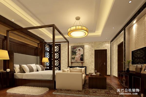 个性的床架设计,也是新中式风格的一种体现