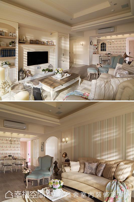 透过设计师精彩卓越的软件配饰艺术,精巧规划出屋主的梦想家园。